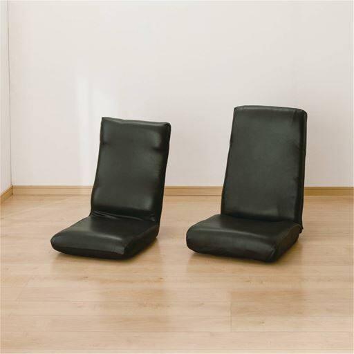 30%OFF座椅子カバー(レザー調のストレッチ生地)のびるんフィット 伸縮生地で装着脱着簡単 拭くだけ簡単お手入れ チェア対応 - セシール ■カラー:ブラック アイボリー ■サイズ:座椅子カバーM