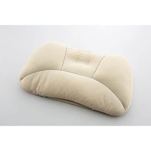 新睡眠基準枕BASIC ■カラー:ソフトパイプ+わた) A(ソフトパイプ) C(わた ■サイズ:普通(55×35×高さ2-3cm),高め(55×35×高さ4-5cm)と題した写真