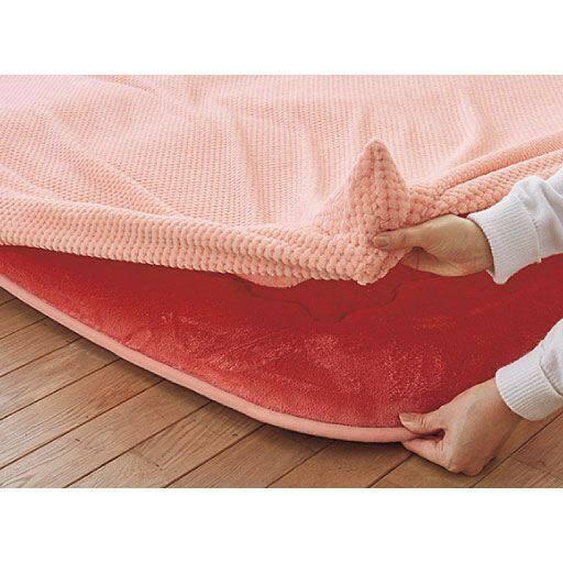 こたつ用敷き布団カバー ■カラー:ピンク ■サイズ:長方形(240x190cm),正方形(190x190cm)と題した写真