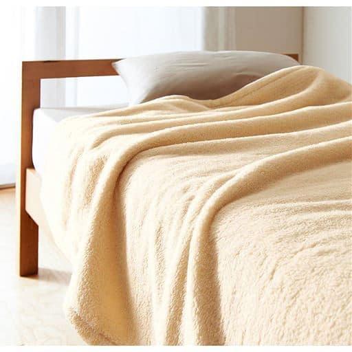2枚合わせ毛布(ふわふわマイクロ) - セシール ■カラー:アイボリホワイト ミディアムグレー アプリコット オリーブグリーン コーヒーブラウン ターコイズブルー ■サイズ:ダブル(180×210cm)