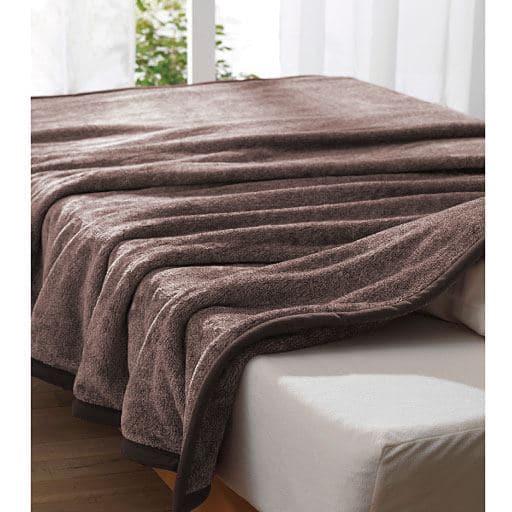 2枚合わせ毛布(スマートヒート) ■カラー:ブラウン ワイン ネイビー ■サイズ:ダブル(180×200cm),シングル(140×200cm)の商品画像