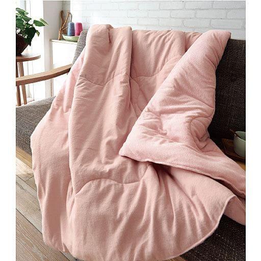 綿フラノ&タオル生地のリバーシブル毛布の写真