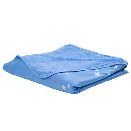 冷感ケット(スター柄・リバーシブルタイプ) ■カラー:ブルー ■サイズ:シングル(140×200cm)の商品画像