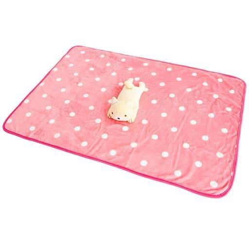 アニマルひざ掛け ■カラー:ピンク(豆柴わん太) ベージュ(カワウソくん)の商品画像