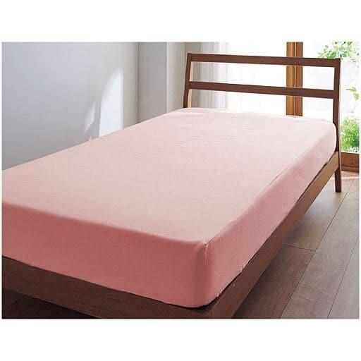 シーツ(綿100%ネルシャツ素材) ■カラー:ピンク ベージュ ■サイズ:フィットダブル(145x215cm),ボックスシングル(100x200x高さ25cm),ボックスダブル(140x200x高さ25cm),フィットシングル(105x215cm)と題した写真