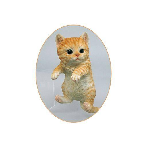 可愛い猫の置物シリーズ - セシール ■カラー:ハンギング:トラ) A(ティーカップ:トラ) B(ティーカップ:アメショ) D(ハンギング:アメショ) E(甘えん坊:トラ) F(甘えん坊:アメショ