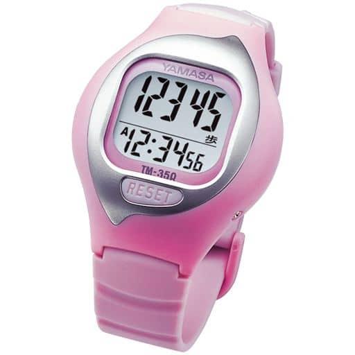 【レディース】 ウォッチタイプの万歩計 - セシール ■カラー:ピンク