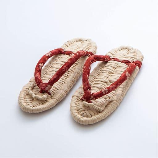 健康綿ぞうり 縄風手作りキット - セシール ■カラー:エンジ ネイビー