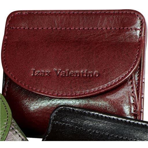【レディース】 イタリアンレザーコンパクト財布/アイザック・バレンチノ ■カラー:ワイン