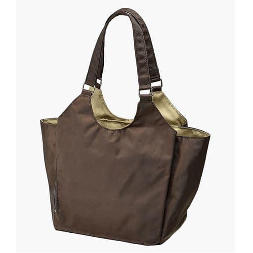 【レディース】 小振りな多機能手提げバッグ - セシール ■カラー:ブラウン