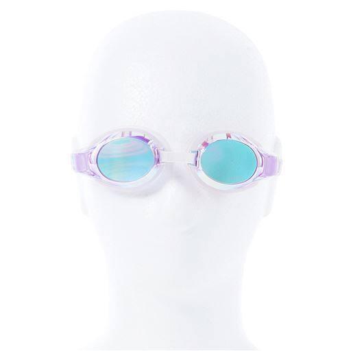 【レディース】 FILA スイムゴーグル(ミラータイプ) - セシール ■カラー:ラベンダー×ピンク