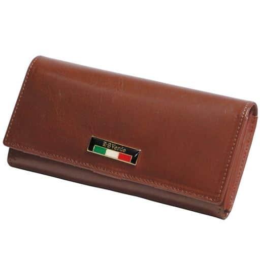 【レディース】 R・B Verde イタリアンレザー長財布 ■カラー:ブラウン