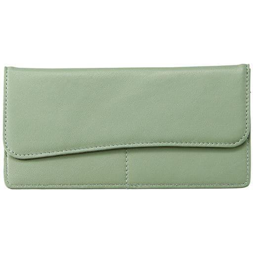 【レディース】 ラムレザースリムカード財布 ■カラー:オリーブ