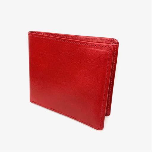 【レディース】 国産超薄型2つ折財布 ■カラー:レッド