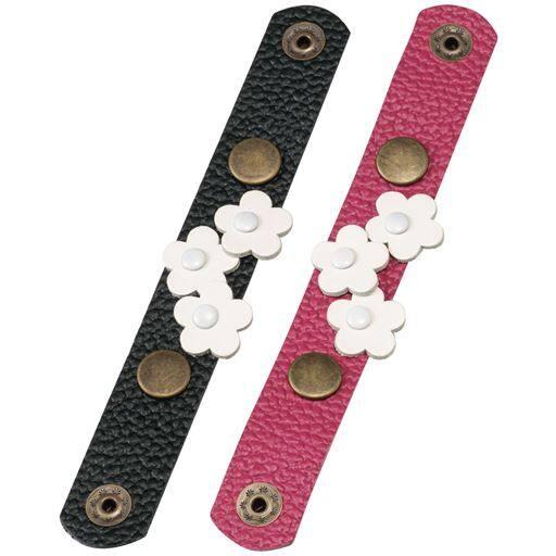 【レディース】 お洒落なレザーマスククリップ2色組 - セシール ■カラー:ブラック&ピンク