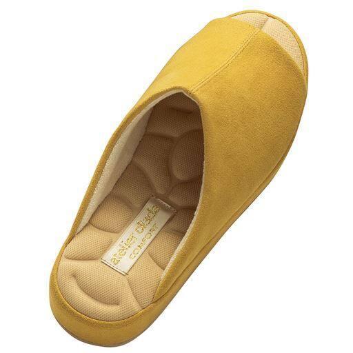 【レディース】 あとりえOKADA靴屋が作った洗えるルームシューズ - セシール ■カラー:イエロー ■サイズ:S(22.0-23.0cm)