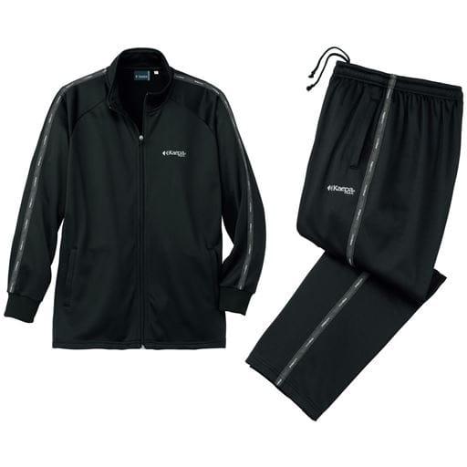 【メンズ】 裏起毛トレーニングスーツ(ケイパ) - セシール ■カラー:ブラック ■サイズ:M