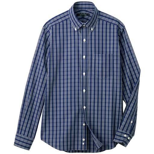 【メンズ】 日本製・綿100%こだわりデザインシャツ ■カラー:チェック ■サイズ:M,L,LL