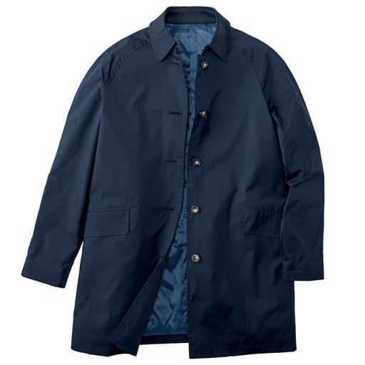 【メンズ】 はっ水・ストレッチ・軽量中綿コート(シンサレート) - セシール ■カラー:ネイビー ■サイズ:M,L,LL,3L,5L