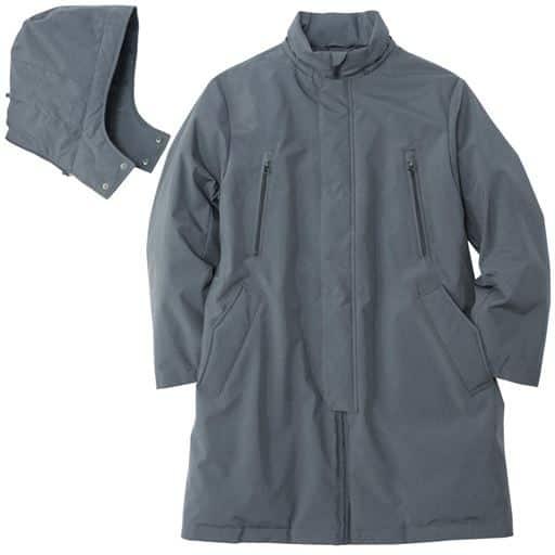 55%OFF【メンズ】 はっ水・高フィルパワーダウン使用フーデッドコート - セシール ■カラー:グレー ■サイズ:3L,5L,LL