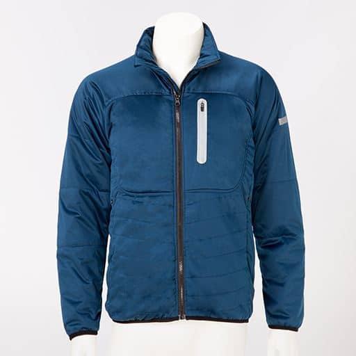 60%OFF【メンズ】 ストレッチ中綿ジャケット - セシール ■カラー:ネイビー ■サイズ:M