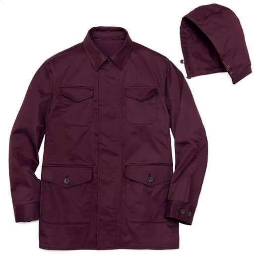 【メンズ】 撥水・ストレッチ・フード付きジャケット - セシール ■カラー:ダークワイン ■サイズ:M,L,5L,LL,3L