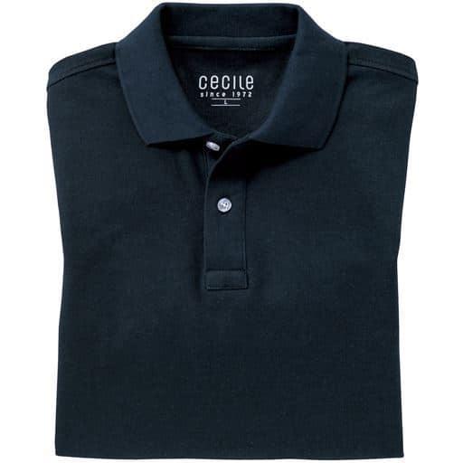 【メンズ】 ドライ半袖ポロシャツ/抗菌防臭・UVカット機能付き ■カラー:ダークネイビー ■サイズ:S,M,3L,5L