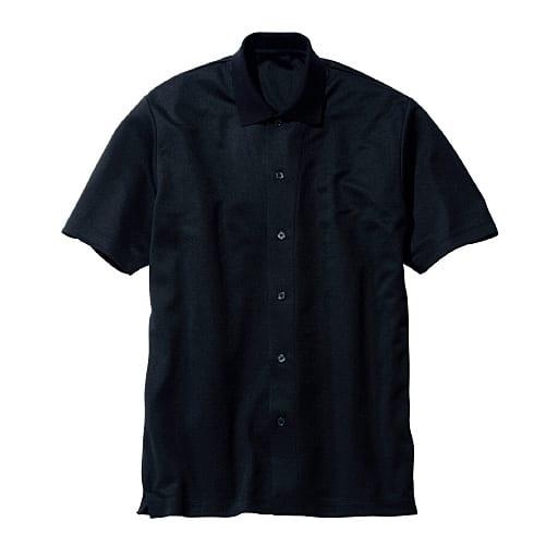 50%OFF【メンズ】 ドライ・ウォッシャブル・ニットシャツ 羽織りアイテムとしても◎なトレンドアイテム - セシール ■カラー:ブラック ■サイズ:M,L,LL