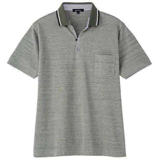ドライ・スキッパー風デザインポロシャツ