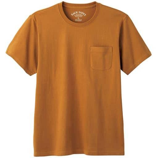 【レディース】 綿100%クルーネックTシャツ(半袖)/オーガニックコットン使用素材 ■カラー:キャメル ■サイズ:S,M,L,LL,3L,5L,7L