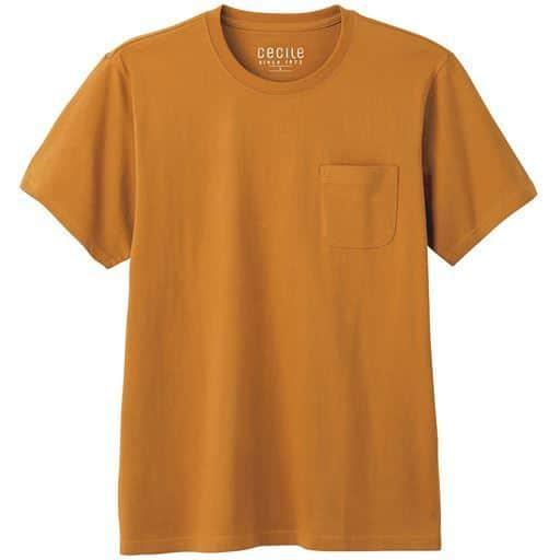 【レディース】 綿100%クルーネックTシャツ(半袖)/オーガニックコットン使用素材 ■カラー:マスタード ■サイズ:S,M,L,LL,3L,5L,7L