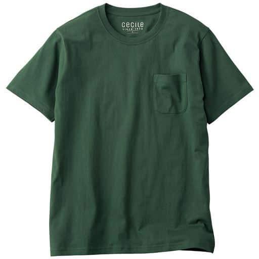 【レディース】 綿100%クルーネックTシャツ(半袖)/オーガニックコットン使用素材 ■カラー:モスグリーン ■サイズ:S,M,L,LL,3L,5L,7L