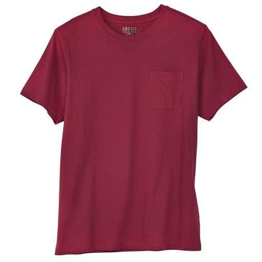【レディース】 綿100%クルーネックTシャツ(半袖)/オーガニックコットン使用素材 ■カラー:バーガンディワイン ■サイズ:S,M,L,LL,3L,5L,7L