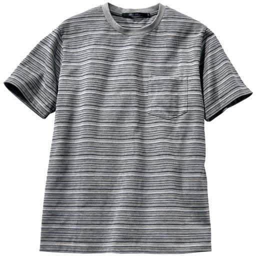 ドライ・編地切替ボーダー柄Tシャツ