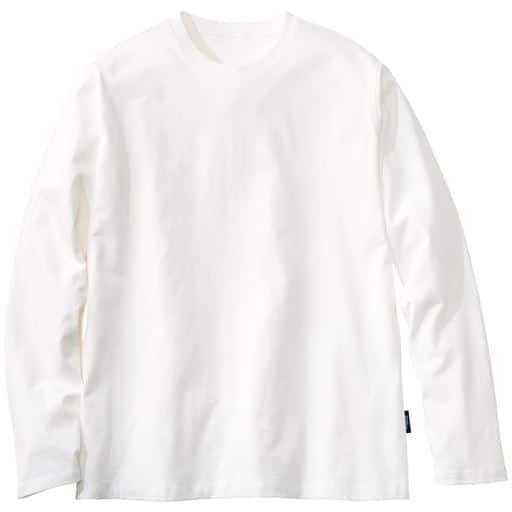 40%OFF【メンズ】 ストレッチ&ドライ カットソー/クルーネック(ソロテックス) - セシール ■カラー:ホワイト ■サイズ:M,L,LL,3L,5L