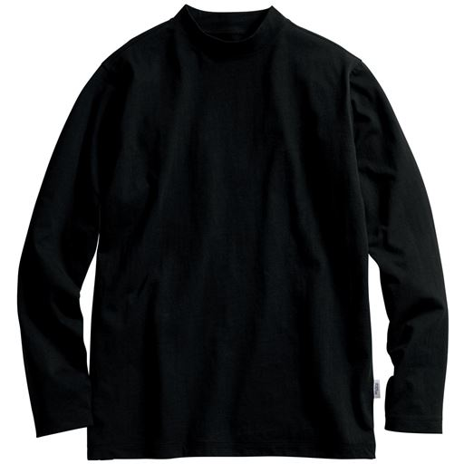 【メンズ】 ストレッチ&ドライ カットソー/モックネック(ソロテックス) - セシール ■カラー:ブラック ■サイズ:3L,5L,M,L,LL