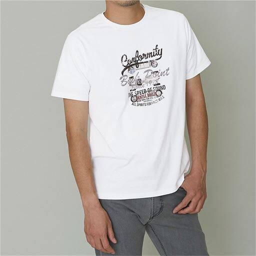 綿100%プリントTシャツ(半袖)