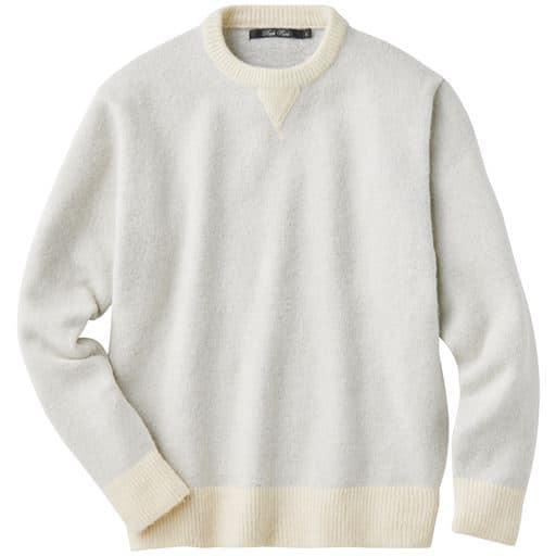 45%OFF【メンズ】 軽量ストレッチニットクルーネック・ふんわり軽くて楽ちんで洗濯機洗いOK ■カラー:ホワイト系 ■サイズ:LL,3L,5L