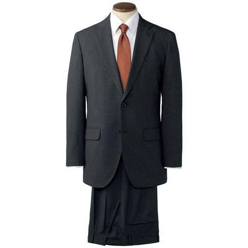 【メンズ】 薄手の肩パットやアジャスター調節機能付き・品格漂うメンズビジネススーツ - セシール ■カラー:チャコールグレー ■サイズ:A5(170),A4(165),AB6(175),AB5(1