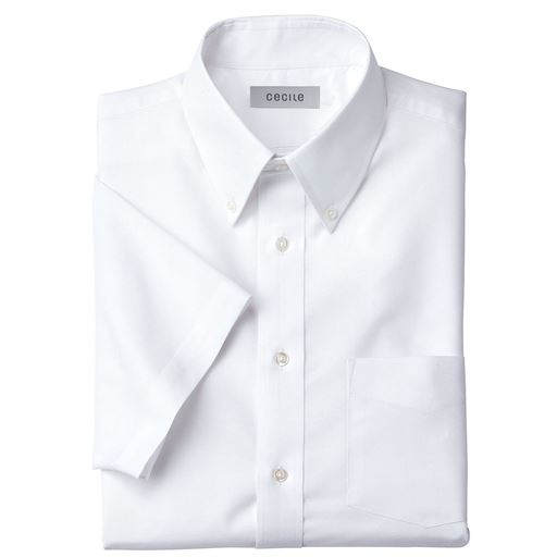 10%OFF【メンズ】 形態安定ボタンダウンYシャツ(半袖) ■カラー:ホワイト系 ■サイズ:M,L,LL,3L,5L,4L