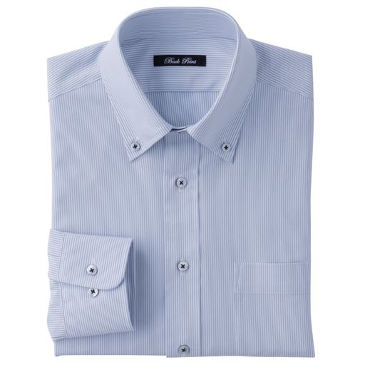 ニット素材で動きらくらく・吸汗速乾機能付き形態安定Yシャツ