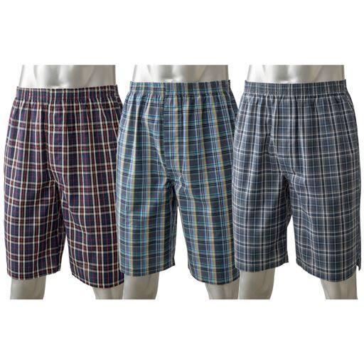 ゆったり履ける綿100%ロングトランクス(3枚組)洗い替え用にも