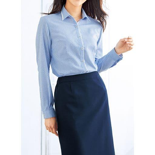形態安定切り替えシャツ(長袖)(抗菌防臭・UVカット)