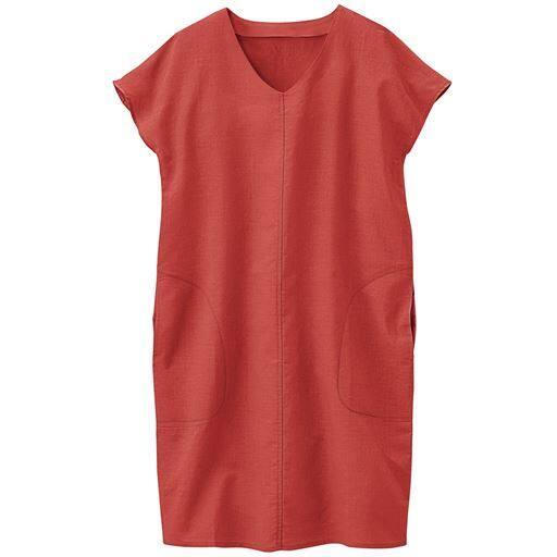 【大きいサイズ プランプ】洗うほど柔らかく肌になじむ今季旬アイテムの麻混素材。風合いのある美しい発色も特徴。自宅でのケアも簡単で清潔感もキープできるアイテムです。
