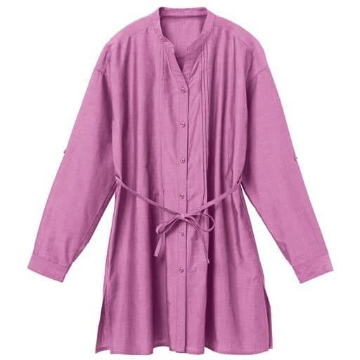 ウエストのドロストリボンや袖口のロールアップで、羽織りでも1枚でも楽しみいろいろ!これからの季節に大活躍のオールマイティなチュニックを、つやめくテンセル™繊維混コットンで仕立てました!