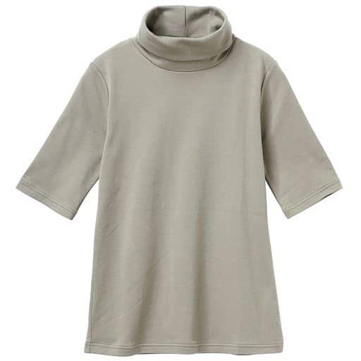 46%OFF【レディース】 UVカットルーズネックTシャツ(五分袖)(綿100%・2丈展開・S-5L) ■カラー:サンドグレー ■サイズ:3L-ロング,S-ロング,3L-レギュラー,4L-5Lレギュラー