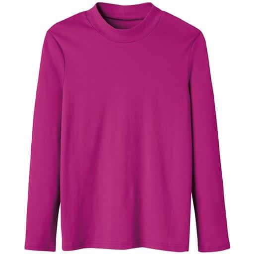 29%OFF【レディース】 あったかシンプルハイネックTシャツ(S-5L・綿100%・蓄熱保温) ■カラー:ローズパープル ■サイズ:M,LL,S,L,3L,4L-5L