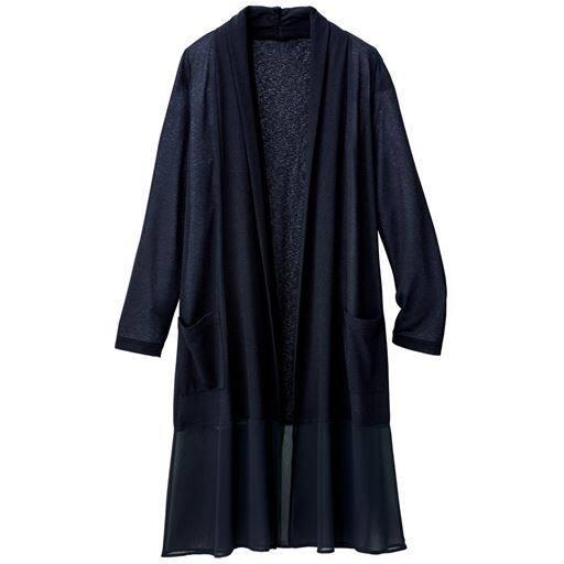 裾シフォンカーディガン(日本製)