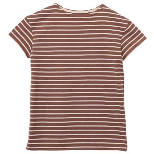 50%OFF【レディース】 ボートネックボーダーTシャツ(S-5L・半袖・洗濯機OK) ■カラー:H ■サイズ:S-ロング,M-ロング