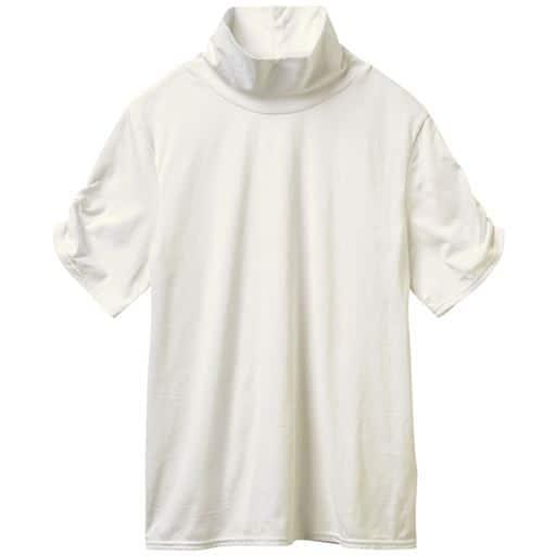 ハイネックTシャツ(半袖)(綿100%・S-5L)